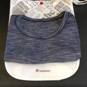 Lululemon Blue Heathered Cap Sleeve Shirt